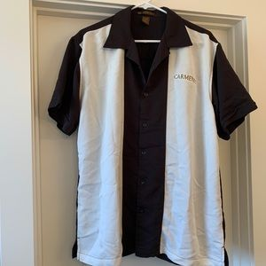 Men's button up bowling style shirt Med, NWOT